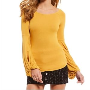 Free People To The Tropics Bell Sleeve top M